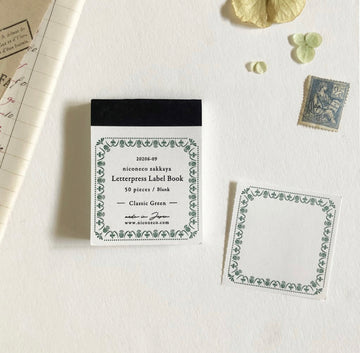 Niconeco Letterpress Label Book Vol.2 - Classic Green