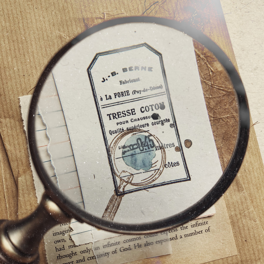 Journalpages x Jieyanow.atelier Magnifying Glass Rubber Stamp