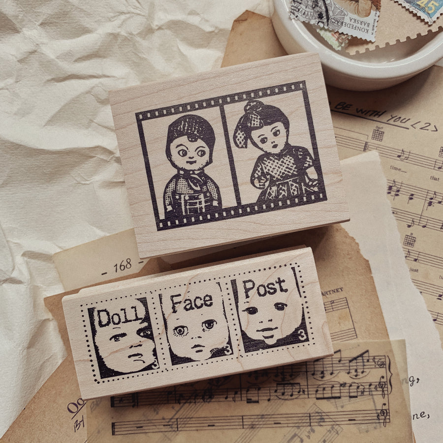 CatslifePress Doll Face Rubber Stamp