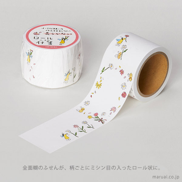 Maruai Omajinai washi roll sticker notes - Flower Fortune Telling