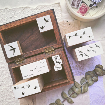 B.Book Rubber Stamps - birds