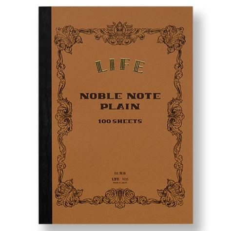 Life 'Noble Note' Notebook - Plain