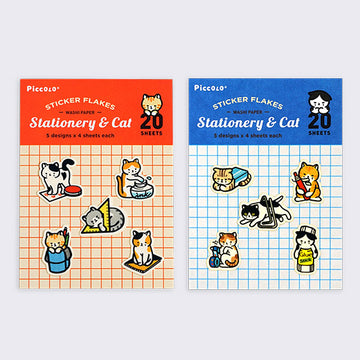 PICCOLO Stationery Cat Washi Sticker Flakes