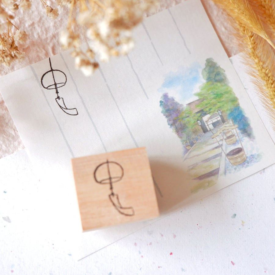 Laabiri Tiny Wind Chime Rubber Stamp