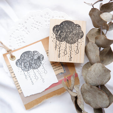 Laabiri Tranquil Raincloud Rubber Stamp