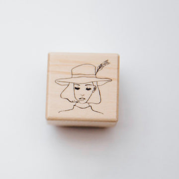 LDV x AIYA BUNGU Travel Girl Rubber Stamp