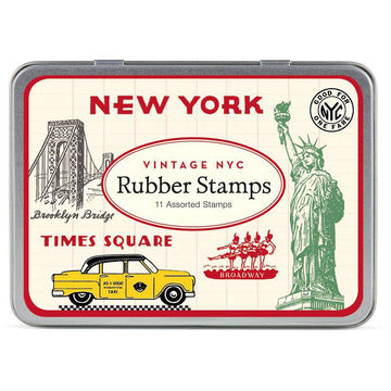 Cavallini Vintage New York Rubber Stamp Set