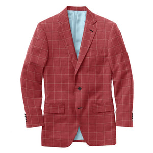 Red White Windowpane Suit