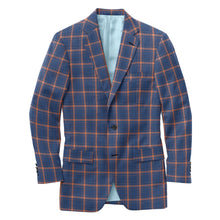Load image into Gallery viewer, Royal Blue Orange Check Suit