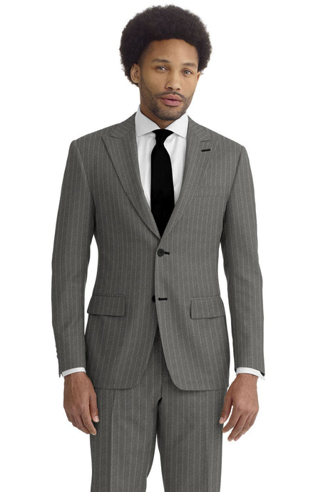 Grey Chalk Stripe Suit