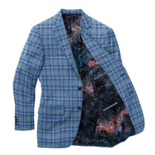 Load image into Gallery viewer, Aqua Navy Plaid Blazer