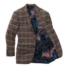 Load image into Gallery viewer, Green Purple Plaid Blazer