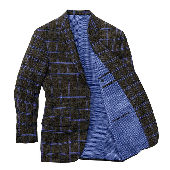 Olive Blue Windowpane Blazer