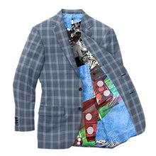 Load image into Gallery viewer, Blue Red Plaid Blazer