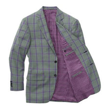 Load image into Gallery viewer, Grey Violet Check Blazer