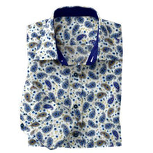 Load image into Gallery viewer, Periwinkle Paisley Stretch Shirt