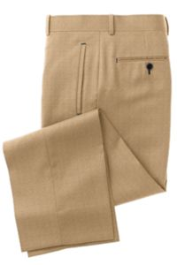 Tan Solid Pants