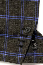 Load image into Gallery viewer, Olive Blue Windowpane Blazer