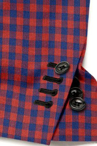 Red Navy Check Blazer