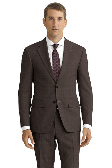 Brown Tic Weave Suit