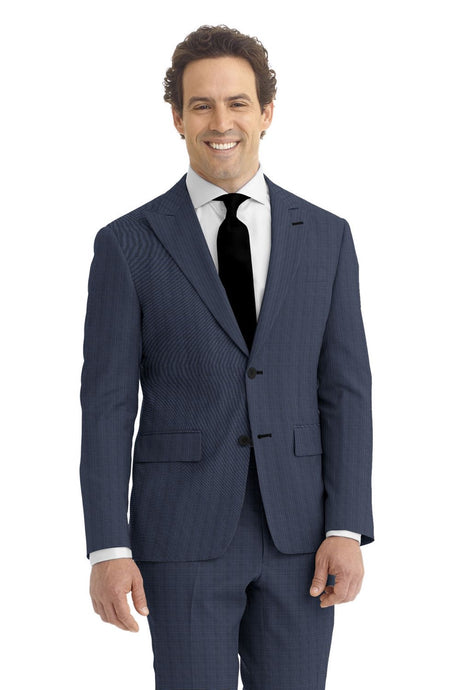Royal Blue Tic Weave Suit