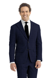 Deep Navy Solid Suit