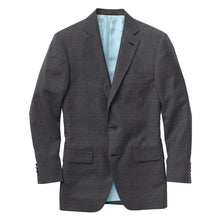 Load image into Gallery viewer, Charcoal Blue Plaid Suit