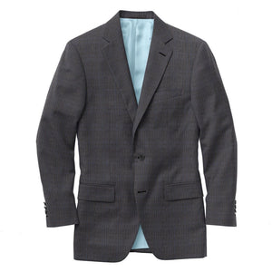Charcoal Blue Plaid Suit