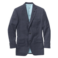 Load image into Gallery viewer, Blue Grey Wine Chalkstripe Check Suit