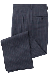 Blue Grey Wine Chalkstripe Check Suit