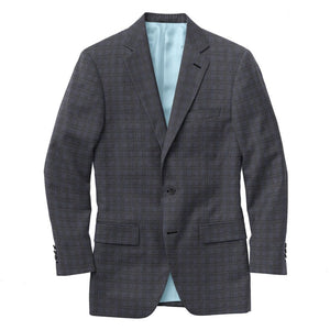 Grey Blue Check Suit