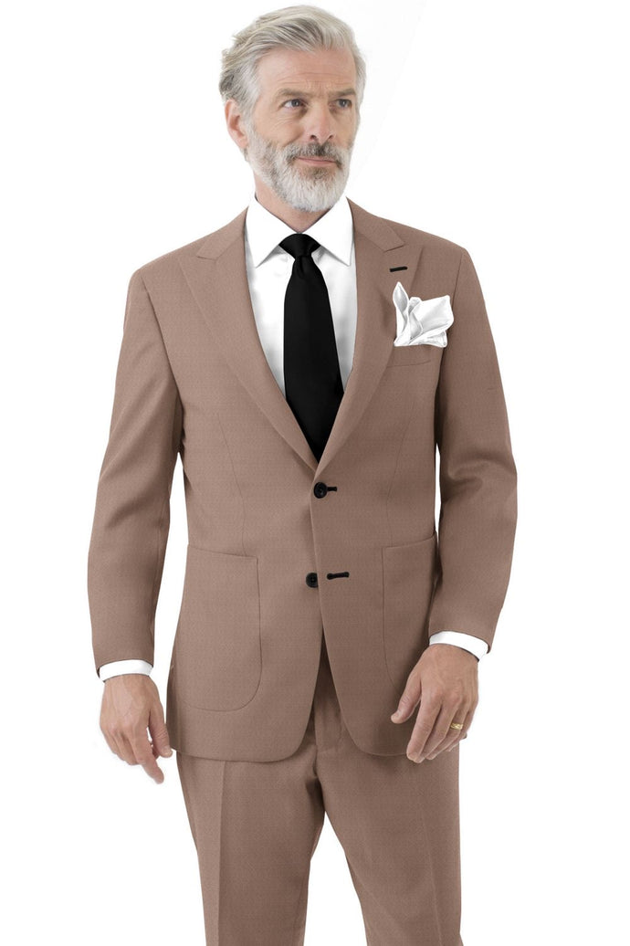 Mocha Solid Suit
