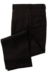 Black medallion luxury trousers
