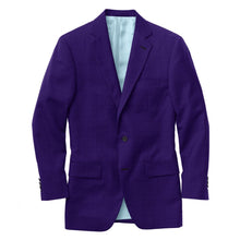 Load image into Gallery viewer, Purple Solid Velvet Suit