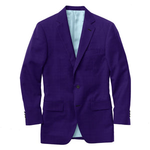 Purple Solid Velvet Suit