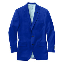 Load image into Gallery viewer, Sapphire Blue Solid Velvet Suit