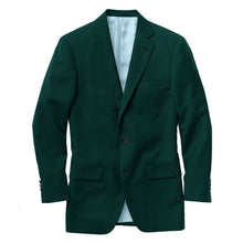 Load image into Gallery viewer, Dark Green Solid Velvet Suit