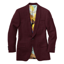 Load image into Gallery viewer, Burgundy Houndstooth Suit