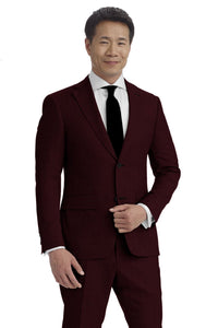 Burgundy Houndstooth Suit