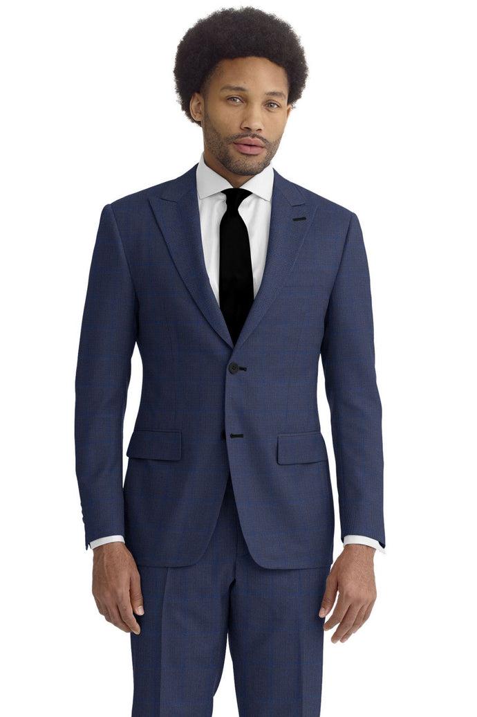 Navy Royal Windowpane Suit