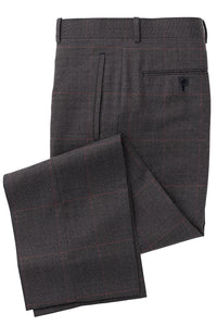 Charcoal Wine Glen Plaid Suit