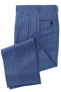 Blue Lt Blue Chalk Stripe Suit