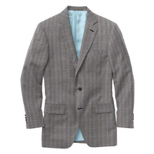 Load image into Gallery viewer, Grey Lt Blue Chalk Stripe Suit