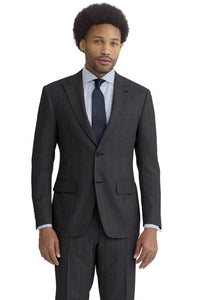 Charcoal Blue Chalk Stripe Suit