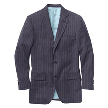 Load image into Gallery viewer, Navy Lavender Stripe Suit