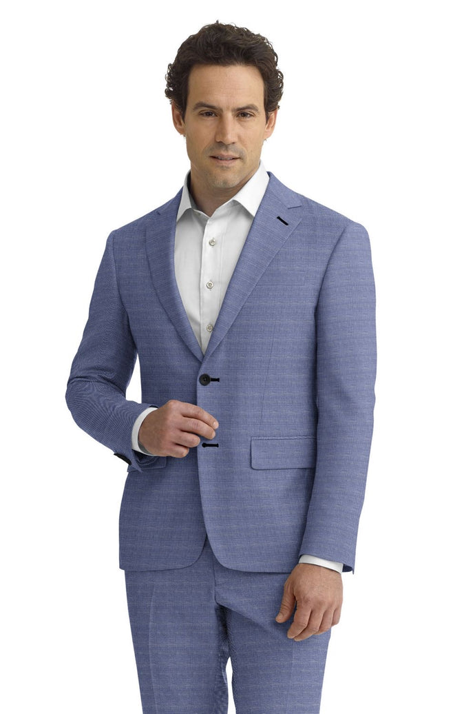 Light Blue Sharkskin Suit