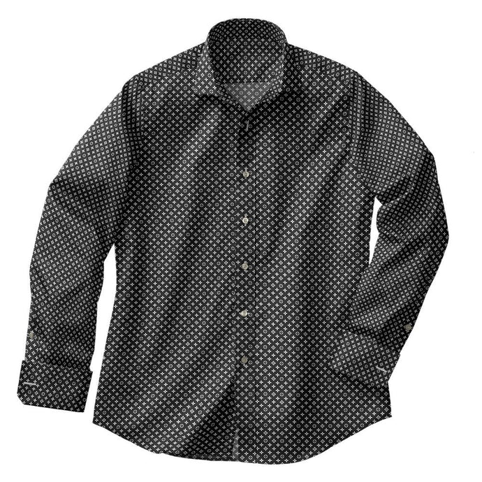 Black Cross Medallion Shirt