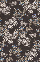 Load image into Gallery viewer, Black Ivory Blue Floral Shirt