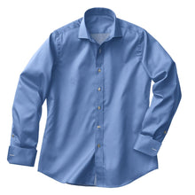 Load image into Gallery viewer, Lt Blue Satin Stretch Shirt