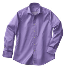 Load image into Gallery viewer, Lavender Satin Stretch Shirt